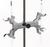 Burette holder alu w. Bosshead, d=0-13mm Burette holder aluminium with Bosshead, with PVC rolls,...