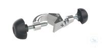 Doppelmuffe JUMBO, Alu verchromt, d=20+30mm Doppelmuffe JUMBO, Aluminium verchromt, Spannweite...