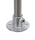 Flange f. 1 tube, malleable cast iron, d=26,9mm Flange, wall connection for 1 tube, malleable...