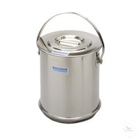 Isolate container w. lid, 18/10 steel, double wall, 10 l Isolate container with lid, 18/10 steel,...