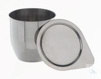 Schmelztiegel Nickel, Wandstärke 0,5mm, HxD=30x25mm, 10ml Schmelztiegel aus Nickel, Wandstärke...