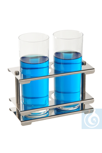 Test tube stand 18/10 steel, detachable, 4x12 Test tube stand 18/10 steel, detachable, 4x12