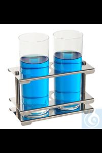 Porte-tubes à essai, acier inox 18/10, démontable, 4x12 Porte-tubes à essai, acier inox 18/10,...