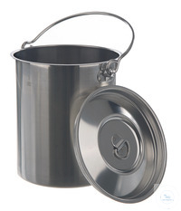 Container with lid/ handle, 18/10, steel, 2 l Container with lid and handle, 18/10 steel, 2 l,...