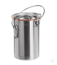 Safety container 18/10 steel, 140x100mm, 1 l Safety container for laboratory flasks out of 18/10...