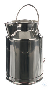 Transport jug 18/10 steel, 20 l Transport jug 18/10 steel with lid, spout und handle, 20 liter