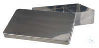Instruments tray w. lid, 18/10 steel, 215x100x50mm Instruments tray with lid, 18/10 steel,...