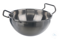 Bowl 18/10 steel, 2 handles, 2700ml Bowl 18/10 steel, 2 handles, 2700ml, HxD=120x220mm
