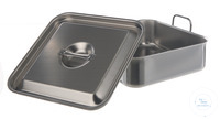 Water bath w. lid, 18/10 steel, 1 l Water bath with lid, 18/10 steel, 1 liter, LxWxH=155x105x75mm