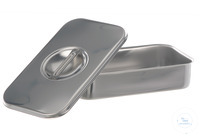 Instruments tray w. lid, 18/10 steel, 315x215x60mm Instruments tray with lid, 18/10 steel,...
