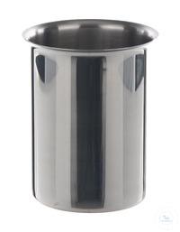 Becher m. Rand 18/10 Stahl, 1000 ml Becher mit Rand, 18/10 Stahl, 1000 ml, HxD=130x100mm Gewicht...