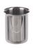 Beker met rand en giettuit, inox 18/10, 100 ml Beker met rand en giettuit, 18/10 staal, 100 ml, D...