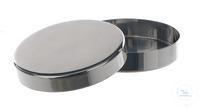 Petrischale 18/10 Stahl, D=120mm, H=20mm Petrischale mit Deckel, 18/10 Stahl, D=120mm, H=20mm