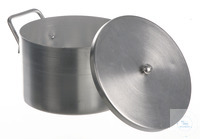 Laboratory pot alu, with lid, 1,5 l Laboratory pot out of aluminium, with lid, 1,5 liter,...