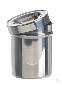 Dressing jar with lid 18/10 steel, DxH=180x180mm Dressing jar with lid 18/10 steel,...