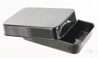 Instruments tray with lid, LxWxH=240x180x40mm Instruments tray with lid, 18/10 steel,...