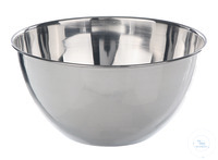Bowl 18/10 steel, flat bottom, 125 ml Bowl with flat bottom, out of 18/10 steel, 125ml, HxD=40x80mm