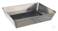 Laboratory tray 18/10 steel, 400x270x80mm Laboratory tray 18/10 steel, dimensions bottom...