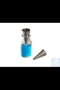 Minitrichter 18/10 Stahl, Auslauf d=10mm Minitrichter 18/10 Stahl, Auslauf d=10mm