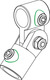 Rohrverbinder-Gelenk, T-Guss, d=26,9mm, 1 x F50, 1 x M50, 1 x 98 Rohrverbinder-Gelenk, T-Guss,...