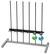 Stativgestell für IRB 6 Rahmengestell mit 6 Edelstahl-Stativstangen.  Länge der Stangen ca. 75...