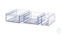 106A-E Polycarbonate Bath 106A-EWidth bath opening WxD: 130x290 mmBath depth:...