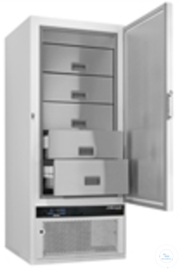 Froster-BL-650, blood plasma freezer with 5 stainless steel drawers